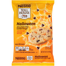 nestle toll house halloween chocolate chip cookie dough 16 oz bar
