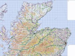 World Map Scotland by 1 Northern Scotland Wall Map