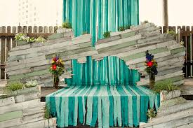 wedding backdrop green eco friendly wedding ruffled