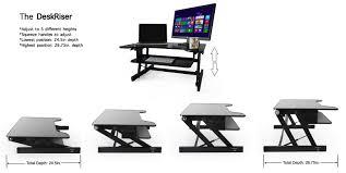 save 10 standing desk the deskriser height adjustable sit