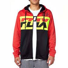 fox motocross sweatshirts fox racing men u0027s tearoff zip up fleece hoodie vulcinity