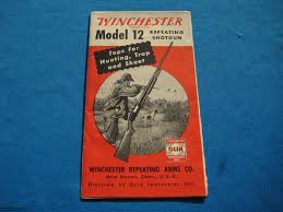 winchester model 12 shotgun manual fold outs original