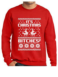 sweater t shirt amazon com it s bitches sweater reindeer