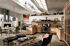 industrial style loft modern industrial style open plan kitchen dining and living area