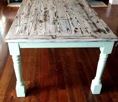 stained table top painted legs my modern beachy farmhouse table