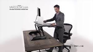 Sit Down Stand Up Desk by Pro Plus 48 Height Adjustable Standing Desk Animation Video