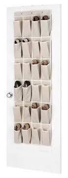 Shoe Rack For Closet Door Whitmor Linen The Door Shoe Organizer Home Kitchen