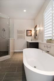 bathroom nice freestanding bathtubs with ladder shelves on cozy