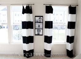 Black Ticking Curtains Curtains Vertical Striped Curtains For Classy Interior Home