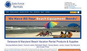 Delaware traveling websites images Gale force rentals delaware web design recent project jpg