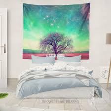 Bedroom Tapestry Wall Hangings Nature Wall Decor Tree Of Life Fantasy Wall Art Print Bedroom