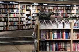 view of books in shelf free stock photo