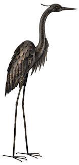 regal gift bronze heron standing 45 inch