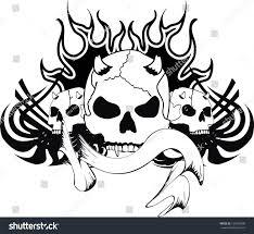 skull tribal tattoo vector format very stock vector 137600699