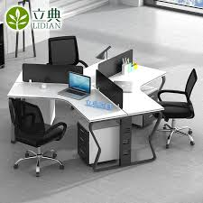 desk for 3 people furniture simple modern staff table desk 3 people 6 bit screen