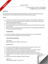 Sample Comprehensive Resume For Nurses Rn Resume Sample