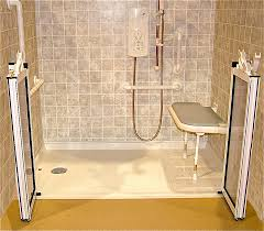 Bathroom Shower Base by Roll In Handicapped Shower With Barrier Free Shower Base