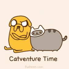 Pusheen The Cat Meme - adventure time pusheen finn cat jake the dog animated gif popkey