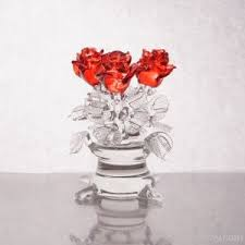 glass roses made glass roses in a vase by przemyslaw stasiorowski grupa