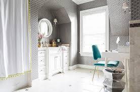 Jonathan Adler Curtains Designs Jonathan Adler Santorini Gray And White Shower Curtain Within