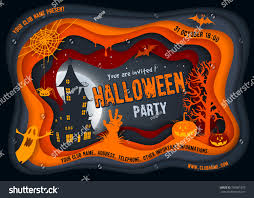 halloween night background pumpkin haunted house stock vector