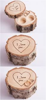 shabby chic dish ring holder images You will forever be my always engraved wood tree stump ring box jpg