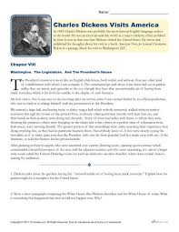 Charles Worksheet Answer Key Charles Dickens Visits America Reading Worksheet