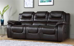 3 Seater Recliner Sofa Vancouver 3 Seater Recliner Sofa Brown Only 599 99 Furniture