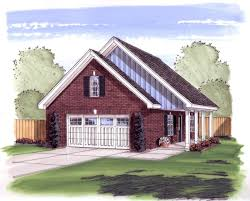 2 car garage or workshop with porch 62475dj architectural