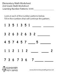 second grade number patterns worksheet