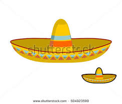 mexican sombrero hat transparent background mexico stock vector