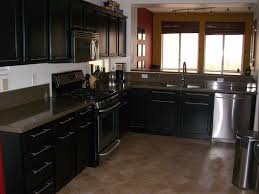 Rustic Black Kitchen Cabinets by Black Kitchen Cabinets With Black Countertops Outofhome