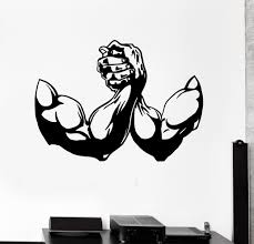 vinyl wall decal muscle bodybuilding fitness gym sports stickers vinyl wall decal muscle bodybuilding fitness gym sports stickers 434ig