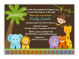 theme blank baby shower invitations jungle