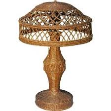 Wicker Table Lamp Rare Vintage Wicker Table Lamp 1920 U0027s Antique Vintage Lamp