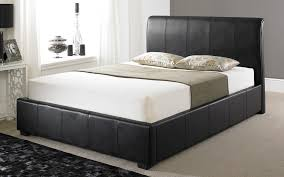 4ft Ottoman Bed With Mattress Leather Ottoman Bed Woburn Faux Leather Ottoman Bed Mattress