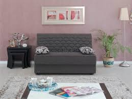 san diego loveseat convertible in grey fabric by empire