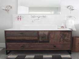 Double Sink Vanity Units For Bathrooms Bathroom Modern Bathroom Rustic Wood Vanity Unit Bathroom