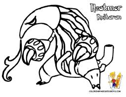 black and white coloring sheets druddigon genesect pokemon 293140