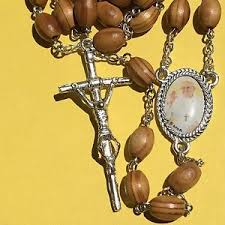 rosaries blessed by pope francis pope francis olive shaped catholic wooden rosary blessed by
