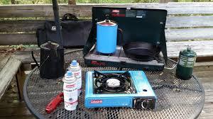 portable table top butane stove coleman 1 burner butane c stove review youtube
