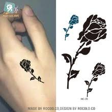 buy female rose tattoo and get free shipping on aliexpress com