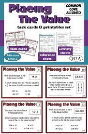 Place Value Worksheets For 4th Grade 153 Best Math Place Value Images On Pinterest Teaching Ideas