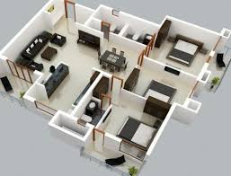 Three Bedroom Design 3 Bedroom Home Design Plans For Goodly This Small Three Bedroom