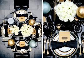 decoration mariage noir et blanc décoration de table noir blanc et or http 3 bp