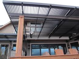 Pergola Rafter End Designs by Traditional Style Louvered Roof System With Fascia Gutter Alrs