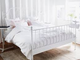 Bed Frame White White Scroll Bedframe Furniture In New York Ny
