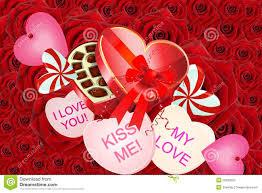 valentine hearts candy u0026 flowers stock photos image 22593603