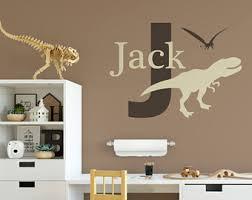 Dinosaur Wall Decal Etsy - Dinosaur kids room