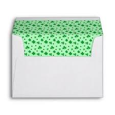lucky springtime shamrocks return address printed envelope st